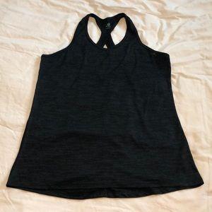Black workout tank top